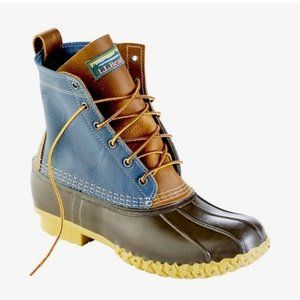 "L.L.Bean   Men's Waterproof 8"" Leather Duck Bean Boots"